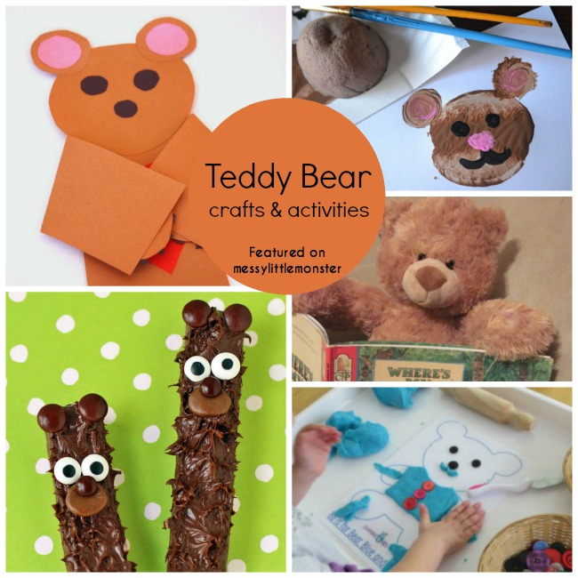 teddy bear arts crafts and activities for toddlers and preschoolers