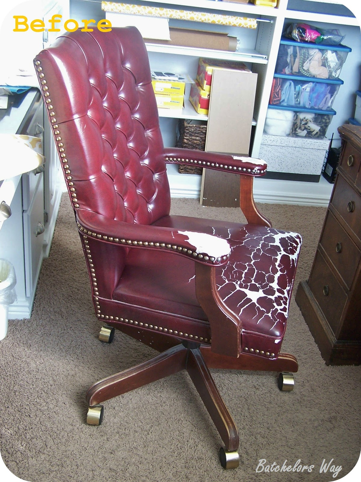 Batchelors Way: Office Redo - How to Reupholster a Chair ...