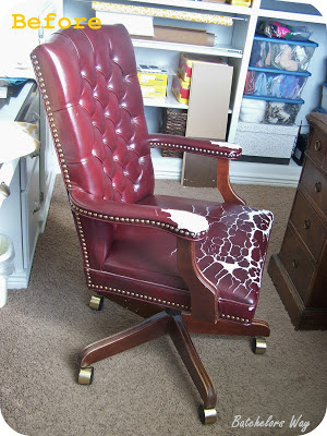 Reupholster Office Chair With Arms Pc Gaming Surround Sound Batchelors Way: Redo - How To A That I Bought For $5