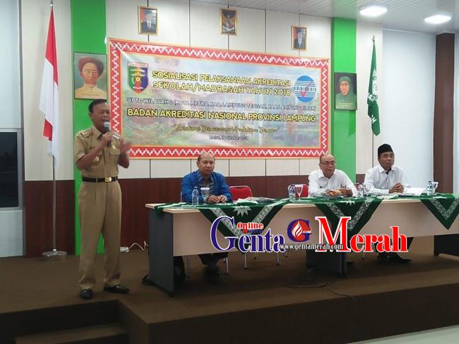 Pentingnya Akreditasi Sekolah, BAN Lampung Sosialisasi di Kota Metro