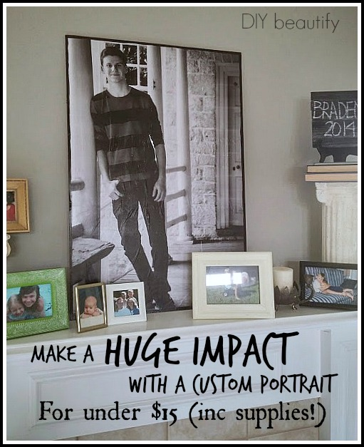 Make a jumbo Custom Portrait at www.diybeautify.com
