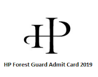 HP Forest Guard Admit Card