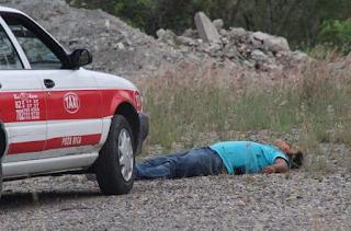 Ejecutan a balazos a taxista en Tihuatlan Veracruz