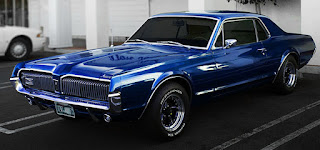 1970 Mercury Cougar Eliminator Blue Front Picture