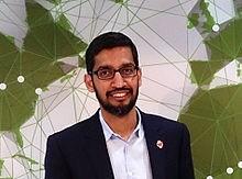 Sundar Pichai गूगल के मुख्य कार्यकारी अधिकारी