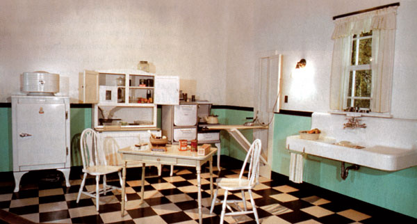 In The Boat With Vivian A Typical Kitchen Of The 1930 S