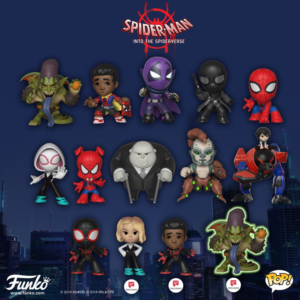 Set of 12 NEW Funko Classic Mystery Minis Blind Box Spider-Man