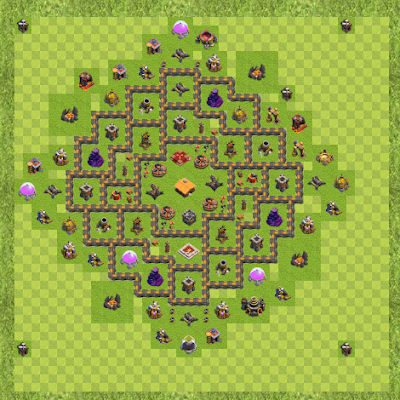 War Base Town Hall Level 9 By Humble85 (Olancho TH 9 Layout)