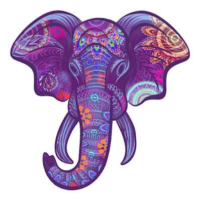 elephant head as part of new logo for Boho Baba