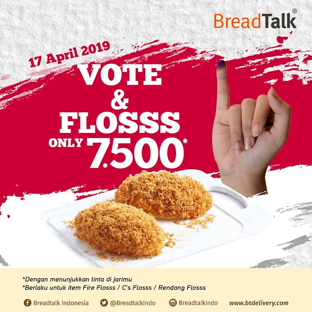 #BreadTalk - #Promo Vote & Floss Hanya 7500 (17 April 2019)