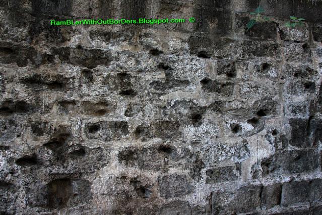 bullet riddled wall, Baluartillo de San Jose, Intramuros, Manila, Philippines