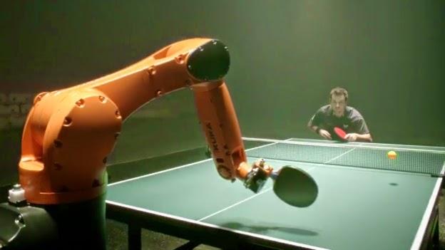 Timo Boll vs. KUKA Robot, Hombre Vs Maquina