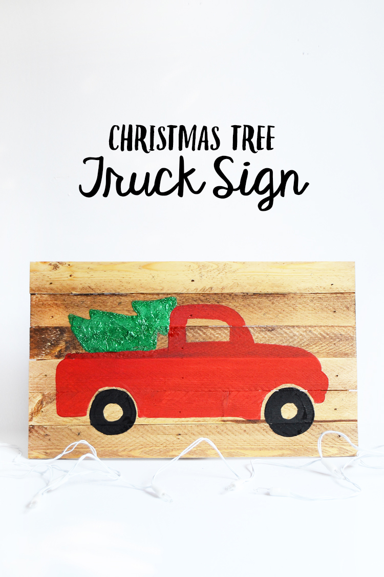 christmas sign truck at crafts unleashed