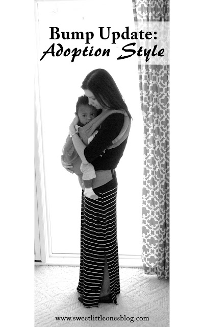 Bump Update: Adoption Style.  Babywearing my little one who grew in my heart through the blessing of adoption!  www.sweetlittleonesblog.com