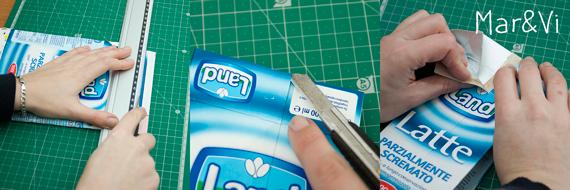 Como hacer un monedero con un envase reciclado