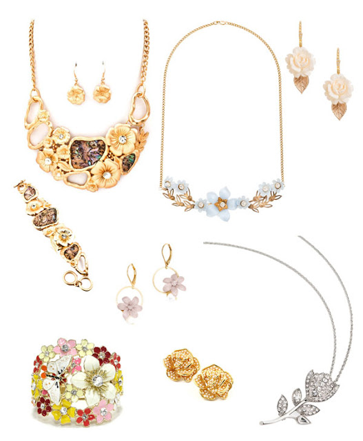 She Wanders She Finds Jewelry Spring Trend 2013 Floral