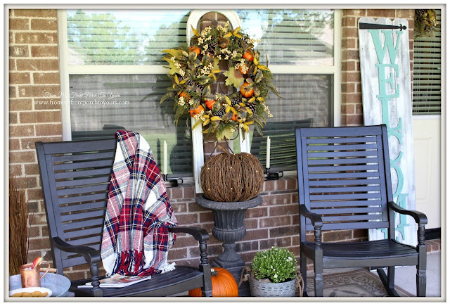 Fall Porch-Balsam-Wreath-Twig Pumpkin- Hill-From My Front Porch To Yours