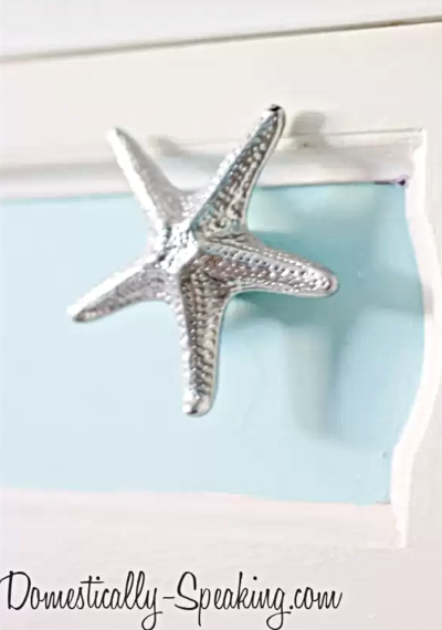 Chrome Nickel Silver Starfish Knobs Hardware Drawer Pulls