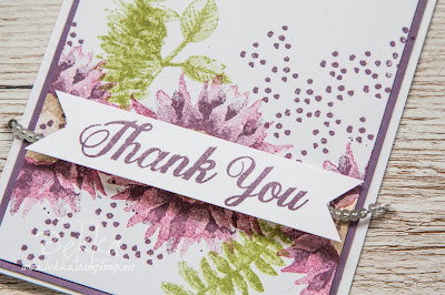 Purple Painted Harvest Thank You Cards - Order Stampin' Up! UK here