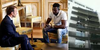 Γάλλο πολίτη έκανε τον ήρωα μετανάστη από το Μάλι ο Μακρόν που έσωσε το παιδί