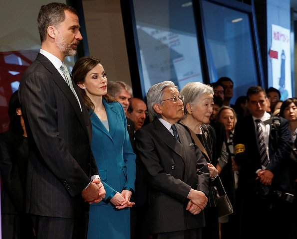 King Felipe and Queen Letizia, Emperor Akihito and Empress Michiko Shinkansen bullet train to Shizuoka, visited the Shizuoka Sengen Shrine and  Shizuoka Prefecture Earthquake Disaster Prevention Center in Shizuoka