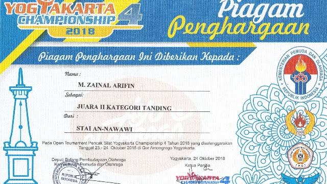Mahasiswa STAI An-nawawi Juarai Pencak Silat Tingkat Nasional