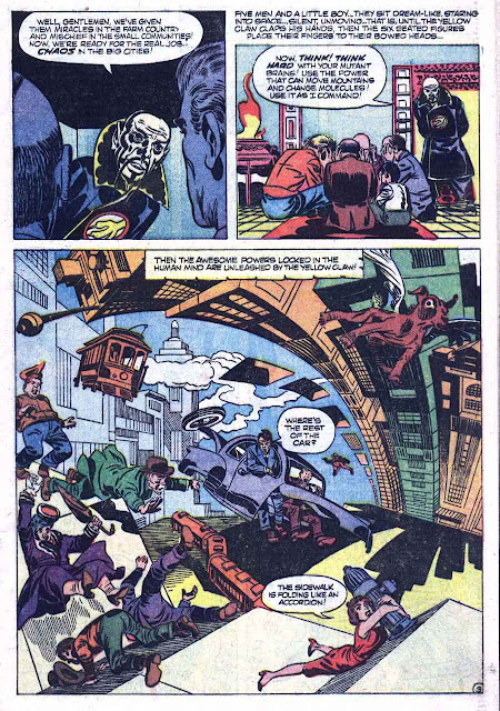 Yellow Claw v1 #2 atlas crime comic book page art by Jack Kirby