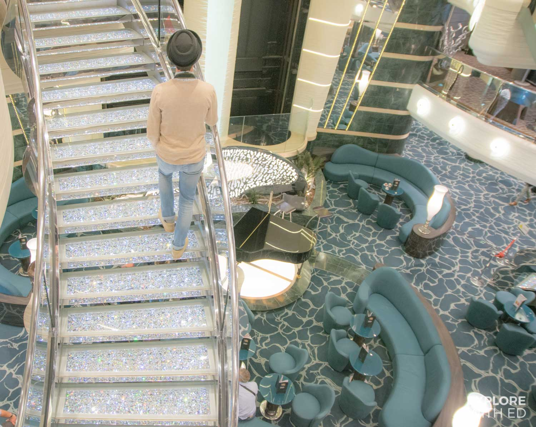 MSC Cruises Swarovski crystal staircases