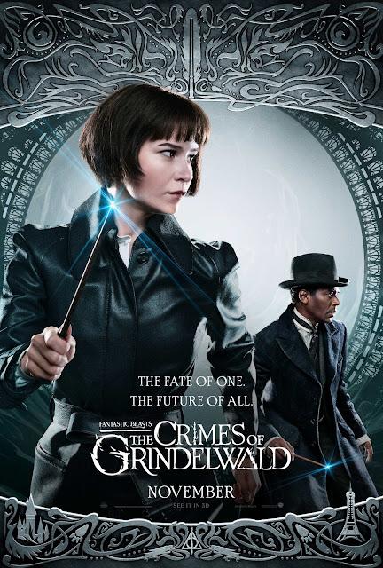 Novos pôsteres dos personagens de 'Os Crimes de Grindelwald' são divulgados | Tina Goldstein e Yusuf Kama | Ordem da Fênix Brasileira