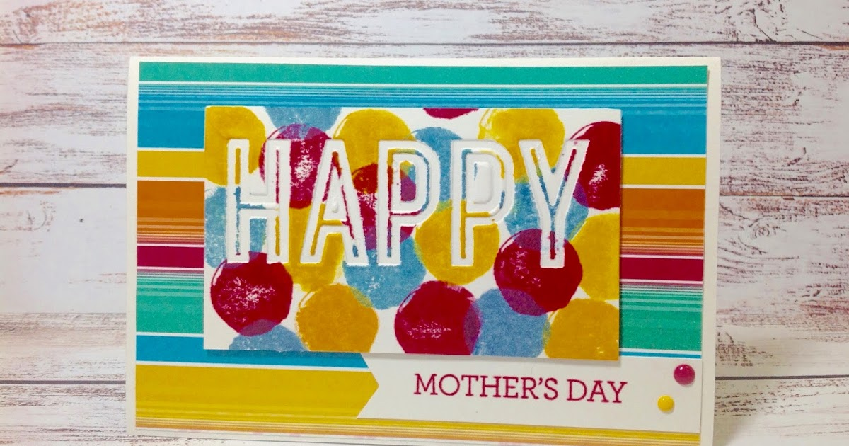 Aussie Stampers : Happy Mothers Day Card with Letterpress ...