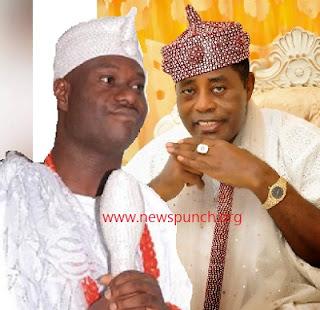 the Ooni of Ife, Oba Adeyeye Ogunwusi, and the billionaire Olugbo of Ugbo, Oba Obateru Akinruntan,