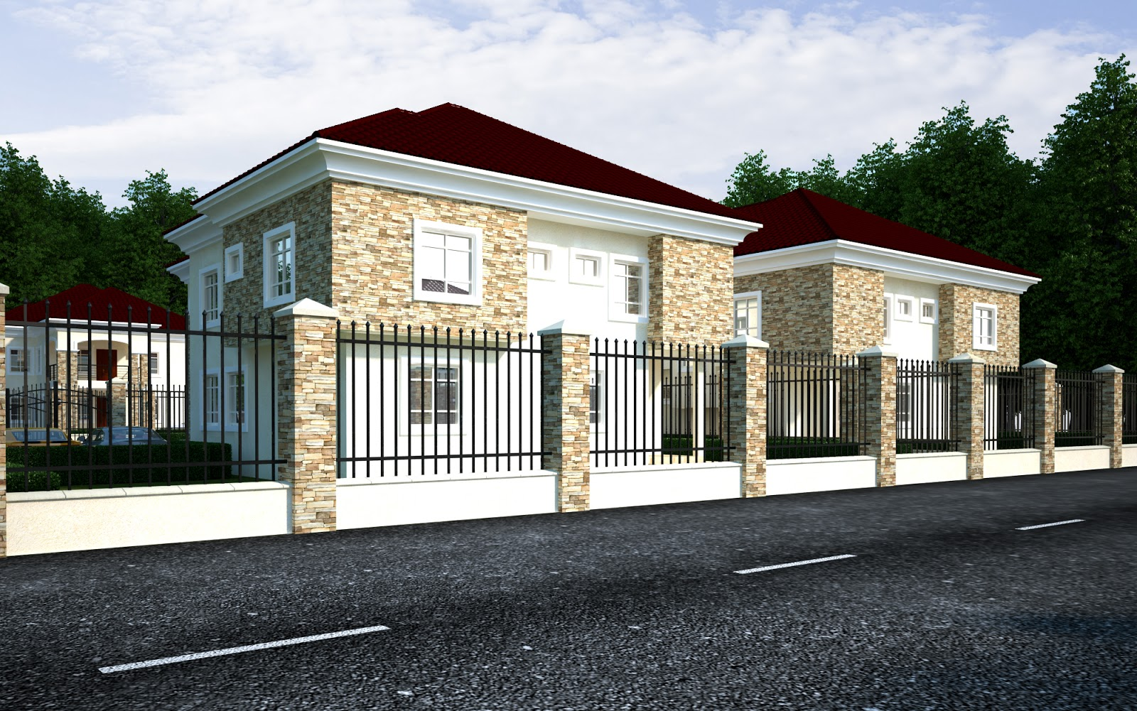 Specification 5 bedroom duplex with 2 bedroom bq price ngn 20 million ample parking space with great facilities such as good roads electrification