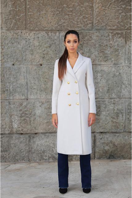 sandro ferrone cappotto bianco