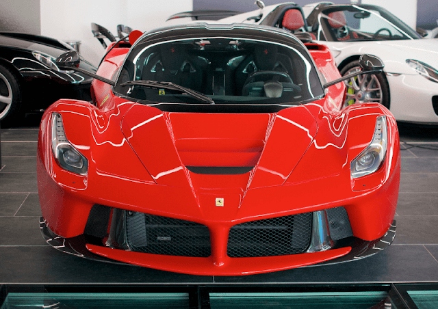 Ferrari LaFerrari front view doors down