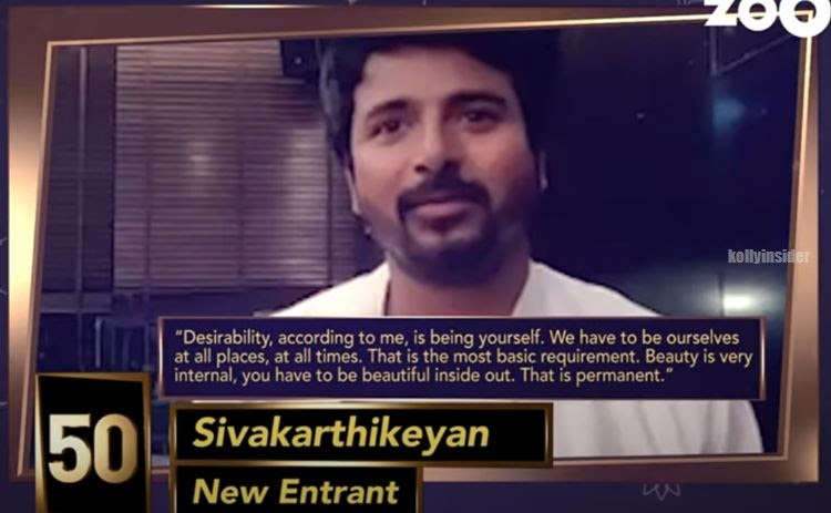 Sivakarthikeyan in India's Top 50 Most Desirable Men 2019