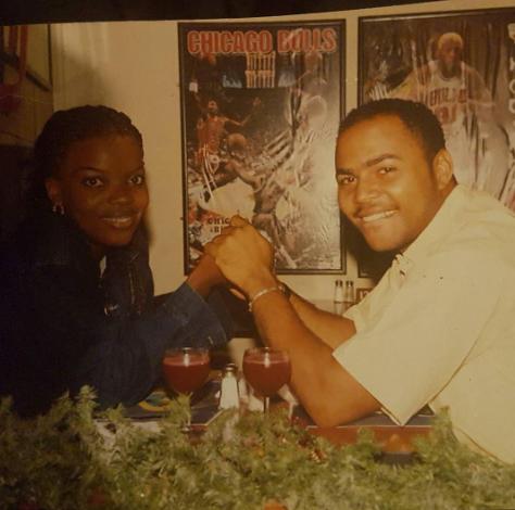 Throwback photo of Ramsey Noah and Empress Njamah