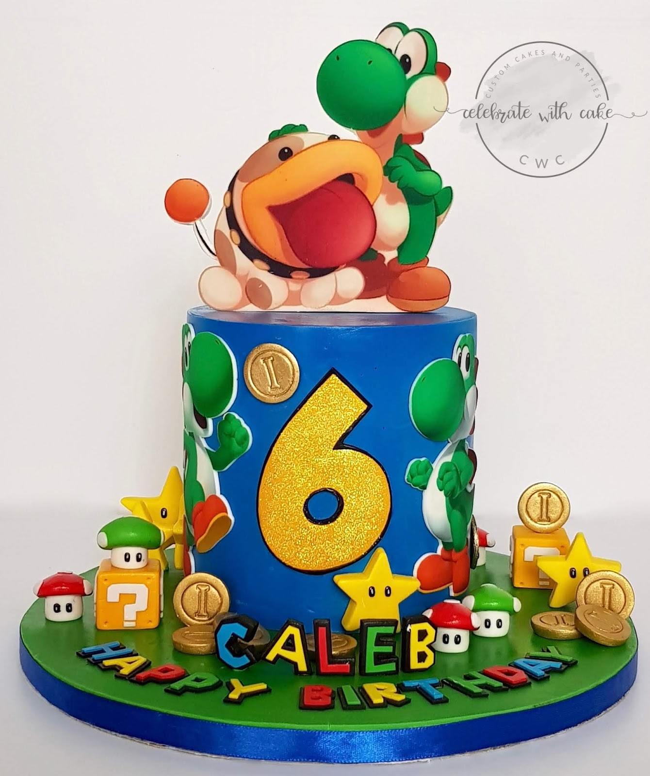 Admirable Celebrate With Cake Super Mario Featuring Yoshi And Poochy Cake Funny Birthday Cards Online Necthendildamsfinfo