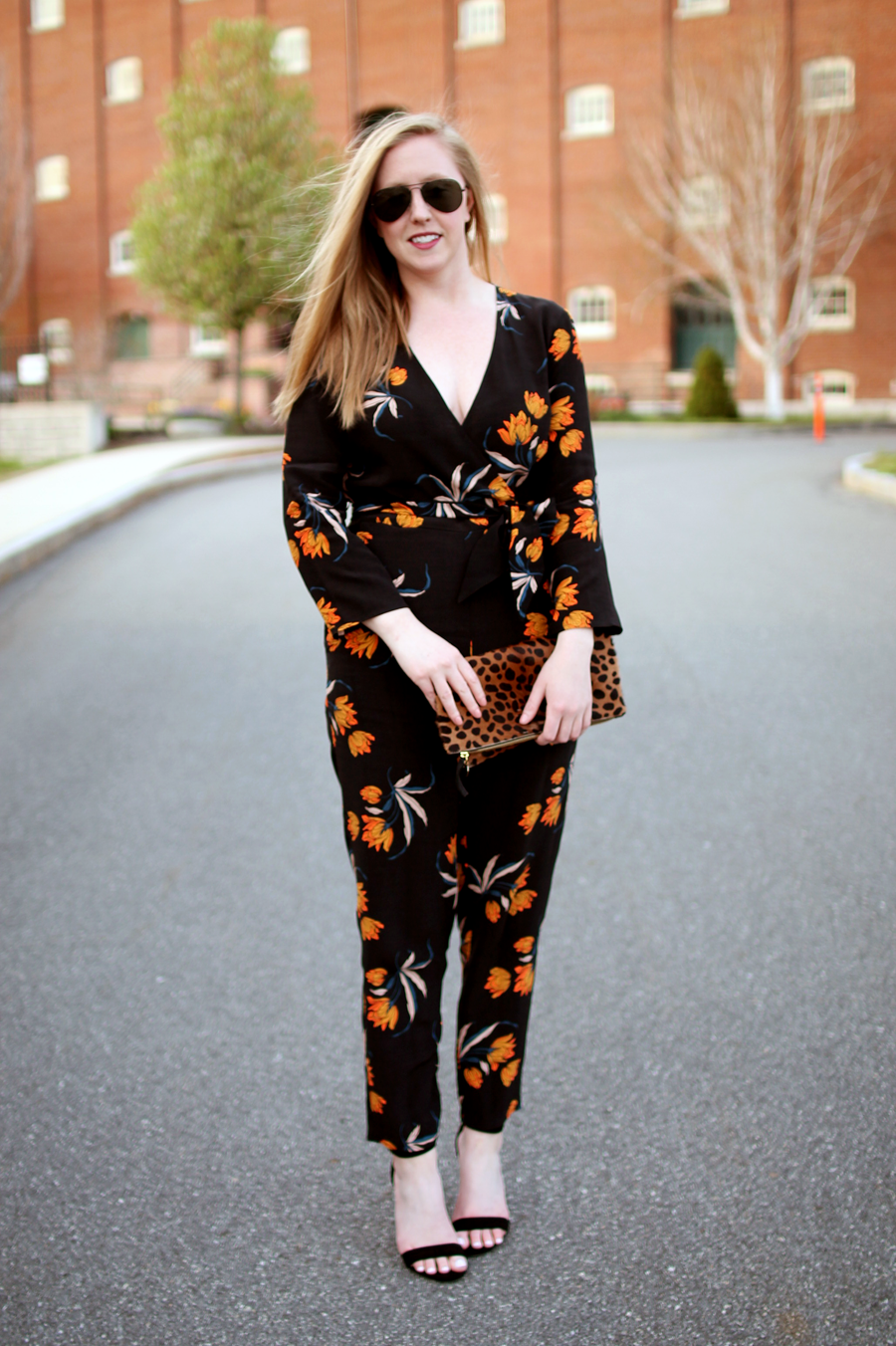 jumpsuit wedding wear, how to wear a jumpsuit, jumpsuit to a wedding, what i wore, boston style blogger, clare v folderover clutch, boston blogger spring, my style diary, topshop printed jumpsuit