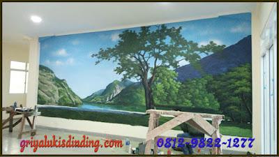 Lukis dinding pemandangan alam