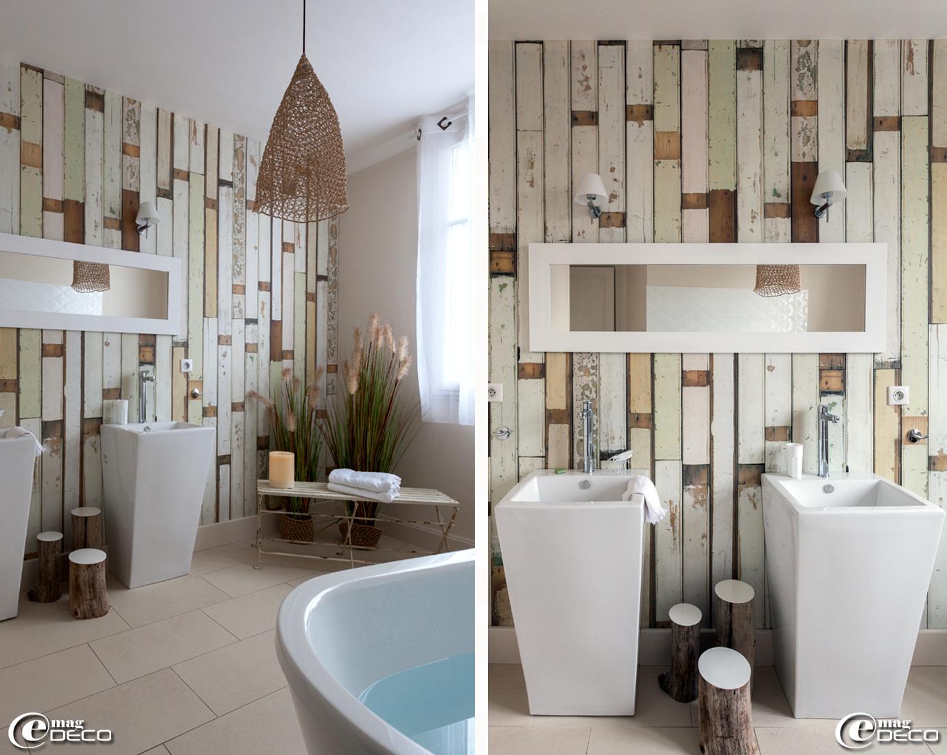 Chambre Style Bois Flotte | Mise En Scène Avec En Décoration Murale ...