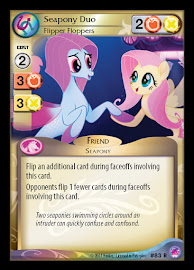 My Little Pony Seapony Duo, Flipper Floppers Seaquestria and Beyond CCG Card