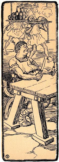 Ellsworth Young illustration lunch 1905