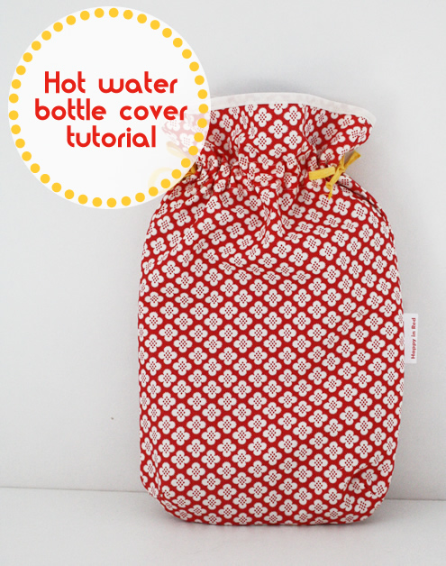 Free sewing pattern: hot water bottle cover | Happy in Red