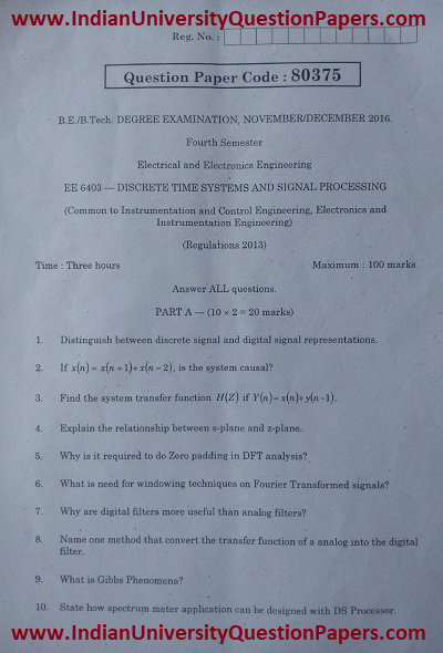 Discrete time systems and signal processing anna university