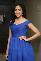 Actress Ritu Varma Pos in Blue Short Dress at Keshava Telugu Movie Audio Launch .COM 0054.jpg