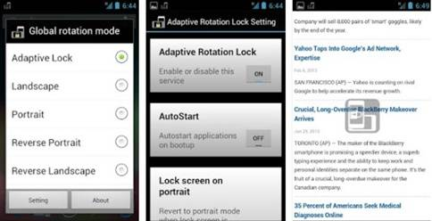 Aplikasi Rotate Screen Android