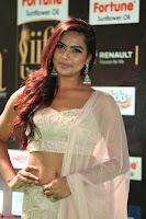 Prajna Actress in backless Cream Choli and transparent saree at IIFA Utsavam Awards 2017 0038.JPG