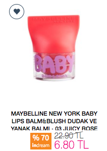 Maybelline New York Baby Lips Balm&Blush