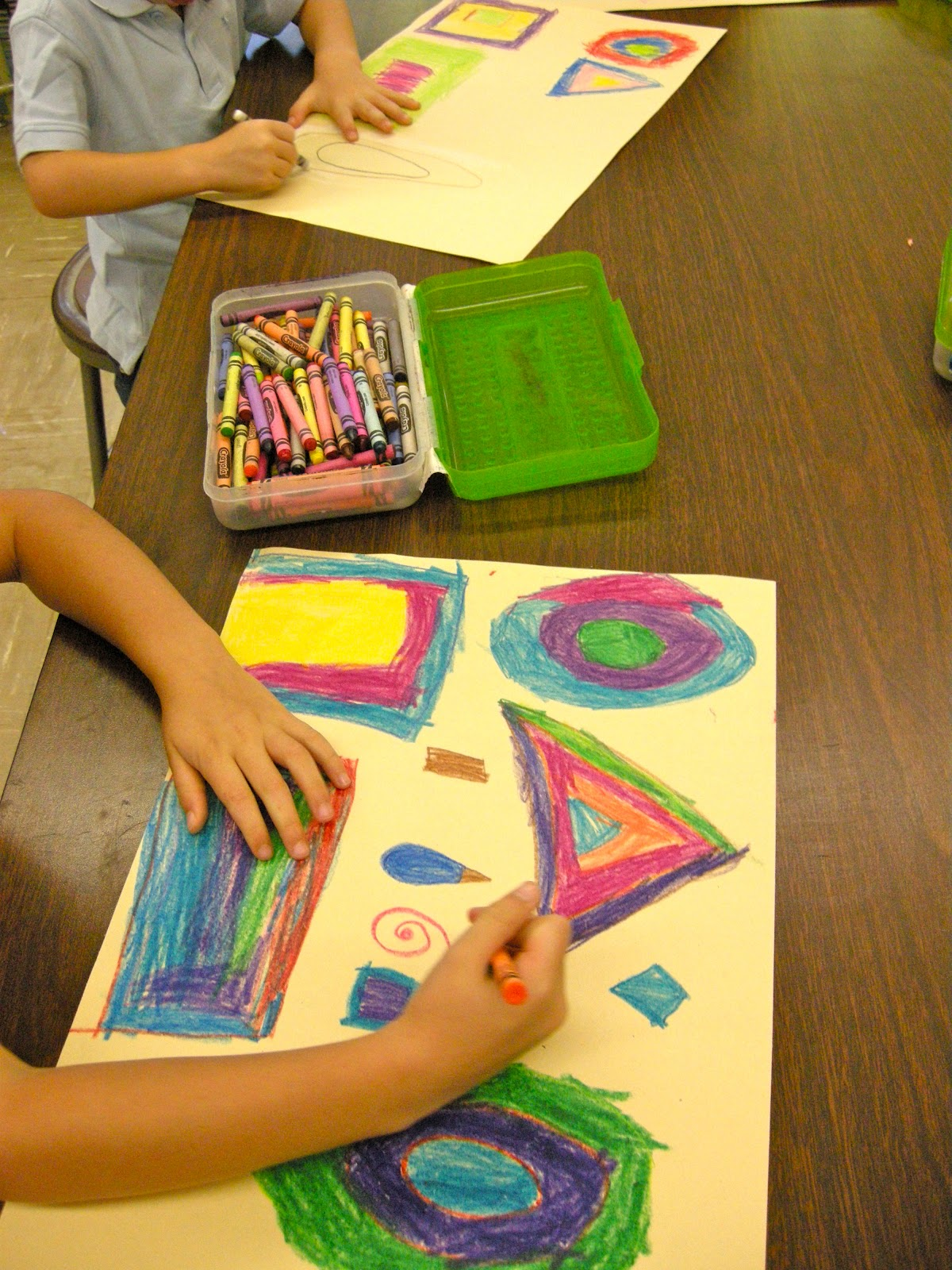 Zilker Elementary Art Class Kinder Geometric Shapes