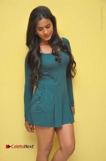 Telugu Actress Prasanthi Stills in Green Short Dress at Swachh Hyderabad Cricket Press Meet  0042.JPG